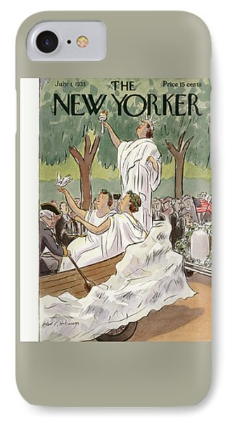 New Yorker July 1st, 1933 IPhone Case by Helen E. Hokinson