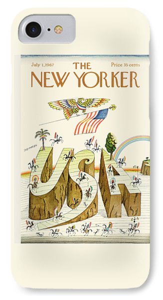 New Yorker July 1st, 1967 IPhone Case by Saul Steinberg