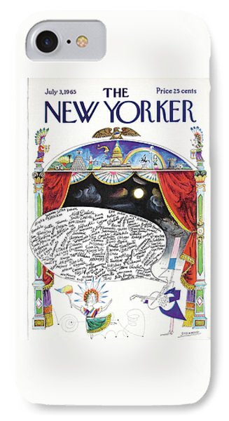 New Yorker July 3rd, 1965 IPhone Case by Saul Steinberg