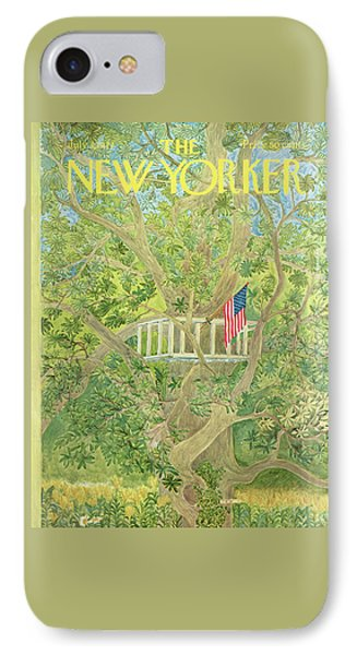New Yorker July 3rd, 1971 IPhone Case by Ilonka Karasz