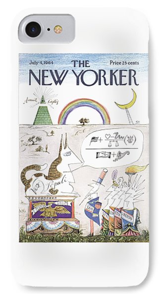 New Yorker July 4th, 1964 IPhone Case by Saul Steinberg