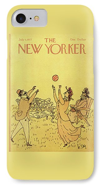 New Yorker July 4th, 1977 IPhone Case by William Steig