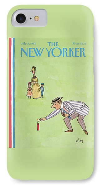 New Yorker July 5th, 1982 IPhone Case by William Steig
