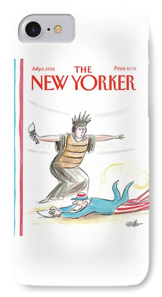 New Yorker July 6th, 1992 IPhone Case by Warren Miller