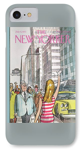 New Yorker July 8th, 1972 IPhone Case by Charles Saxon
