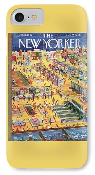 New Yorker June 2nd, 1962 IPhone Case by Anatol Kovarsky