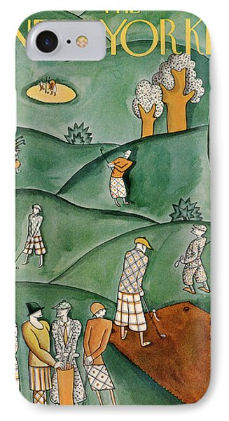 New Yorker June 9th, 1928 IPhone Case by Ilonka Karasz