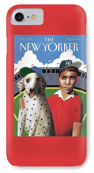 New York Mets iPhone 7 Case - New Yorker May 1st, 1995 by Mark Ulriksen