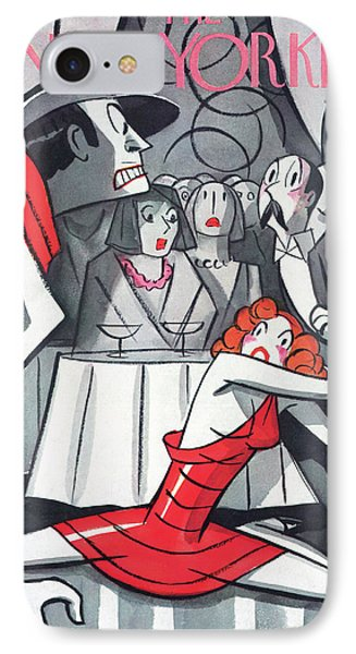 New Yorker November 7th, 1936 IPhone Case by Peter Arno