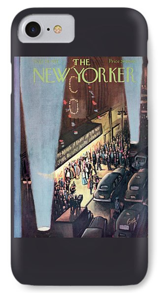New Yorker September 26th, 1953 IPhone Case by Arthur Getz