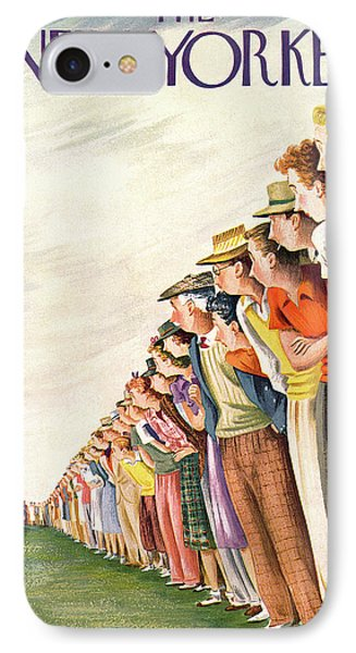 New Yorker September 4th, 1948 IPhone Case by Constantin Alajalov