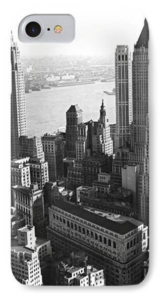 New York's Financial Center IPhone Case by Underwood Archives