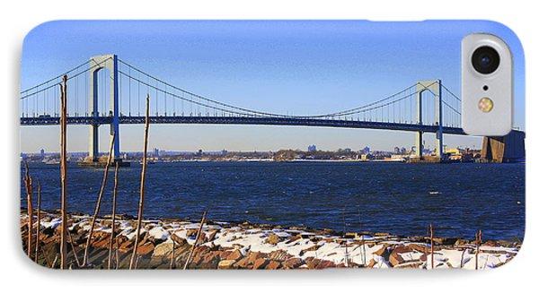 New York's Throgs Neck Bridge Phone Case by Dora Sofia Caputo Photographic Art and Design