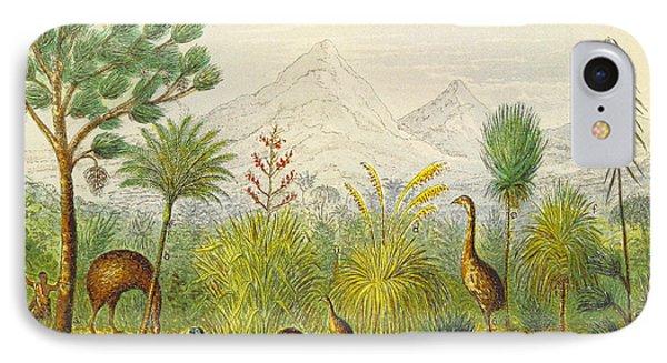 New Zealand Kiwi, Takahe, Extinct Moa IPhone Case by British Library