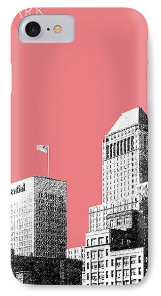 Newark Skyline - Salmon Phone Case by DB Artist