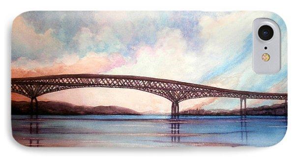 Newburgh Beacon Bridge Sky  IPhone Case by Janine Riley