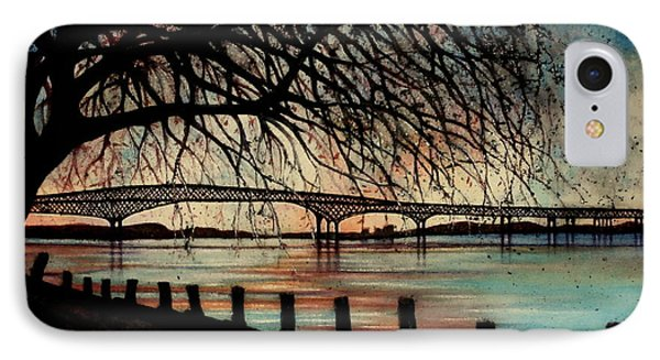 Newburgh Beacon Bridge Sunset Phone Case by Janine Riley