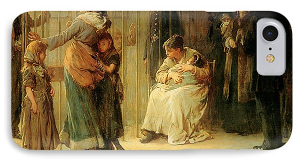 Newgate Committed For Trial, 1878 IPhone Case by Frank Holl