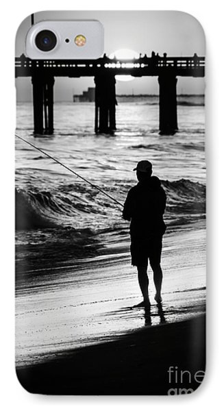 Newport Beach California  Sunset Fishing Picture IPhone Case by Paul Velgos