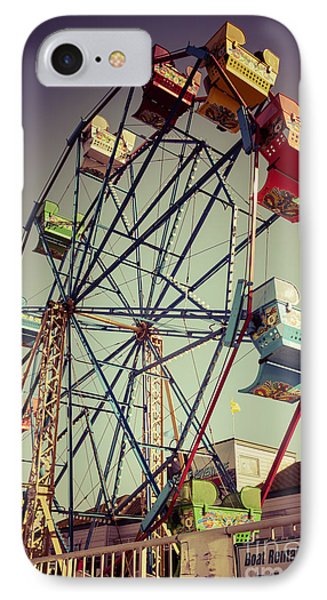 Newport Beach Ferris Wheel In Balboa Fun Zone Photo IPhone Case by Paul Velgos