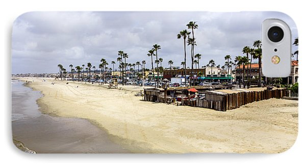 Newport Beach Oceanfront Businesses With Dory Fleet Phone Case by Paul Velgos
