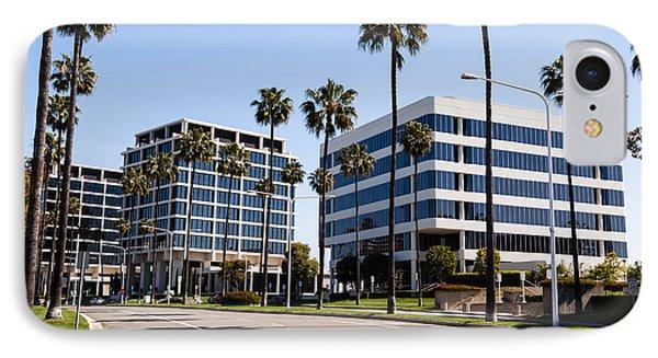 Newport Beach Office Buildings Orange County California Phone Case by Paul Velgos