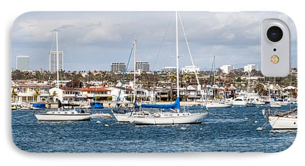 Newport Beach Panorama Phone Case by Paul Velgos