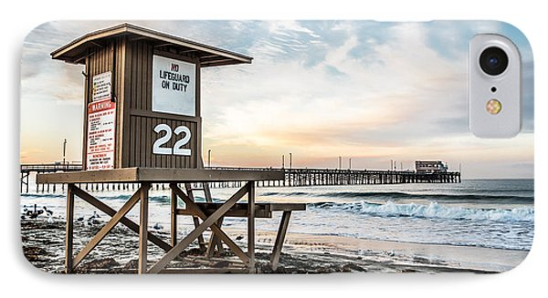 Newport Beach Pier And Lifeguard Tower 22 Photo Phone Case by Paul Velgos