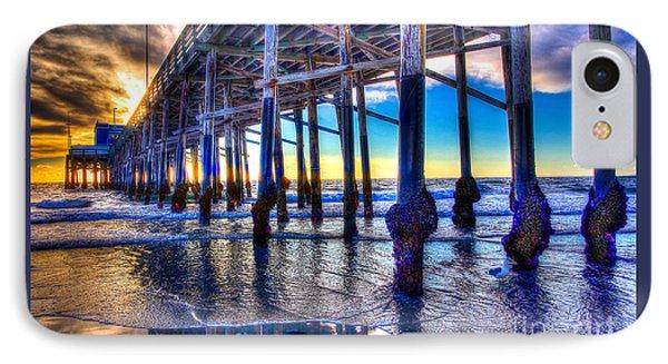 Newport Beach Pier - Low Tide Phone Case by Jim Carrell