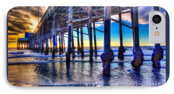 IPhone Case featuring the photograph Newport Beach Pier - Low Tide by Jim Carrell