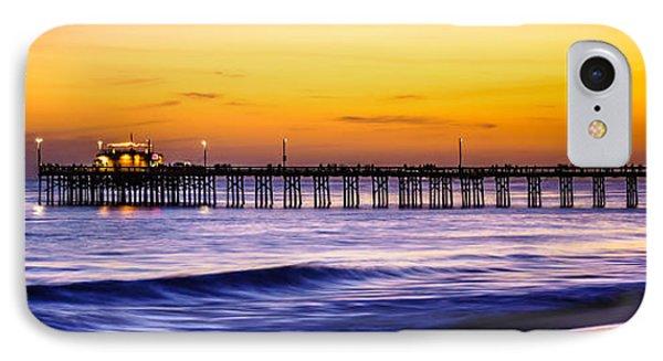 Newport Beach Pier Panorama Sunset Photo IPhone Case by Paul Velgos