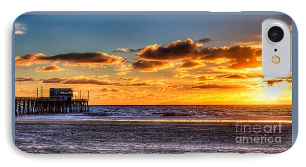 IPhone Case featuring the photograph Newport Beach Pier - Sunset by Jim Carrell