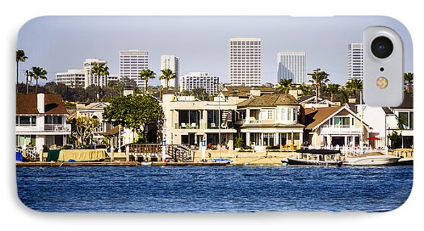 Newport Beach Skyline And Waterfront Homes Picture Phone Case by Paul Velgos