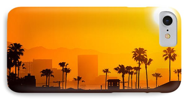 Newport Beach Skyline Sunrise Panorama Photo IPhone Case by Paul Velgos