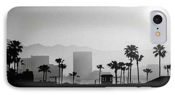 Newport Beach Skyline Sunrise Panoramic Picture IPhone Case by Paul Velgos