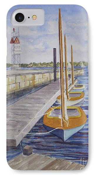 Newport Boats In Waiting IPhone Case by Carol Flagg