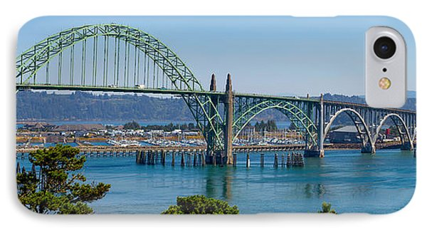 IPhone Case featuring the tapestry - textile Newport Bridge by Dennis Bucklin