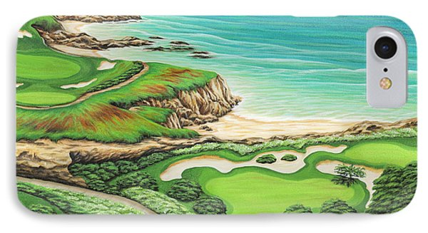 IPhone Case featuring the painting Newport Coast by Jane Girardot