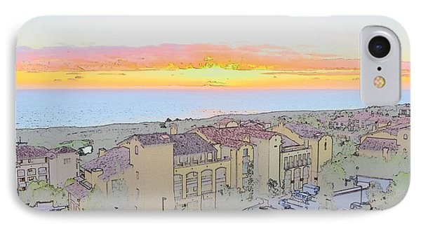 Newport Coast Sunset IPhone Case by Penny Lisowski