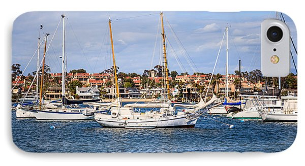 Newport Harbor Boats In Orange County California Phone Case by Paul Velgos