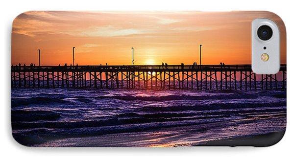 Newport Pier Sunset In Newport Beach California IPhone Case by Paul Velgos