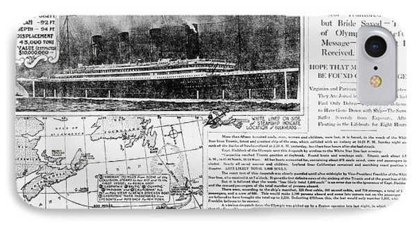 News Report On Titanic Disaster IPhone Case by Library Of Congress