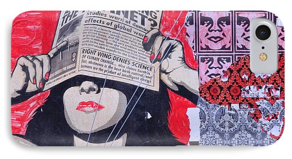 Shepard Fairey Graffiti Andre The Giant And His Posse Wall Mural IPhone Case by Kathy Barney