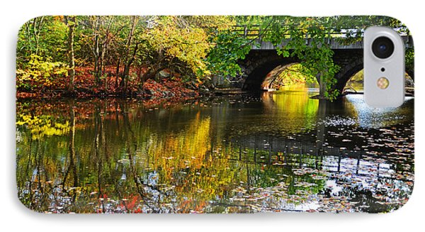Newton Upper Falls Autumn Foliage IPhone Case by Toby McGuire