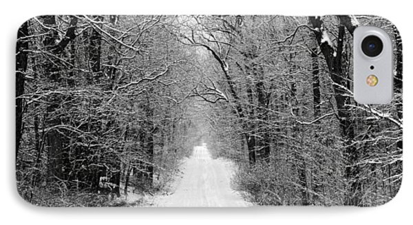 Next Stop In Winter IPhone Case by John Crothers