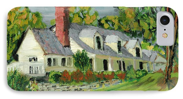 IPhone Case featuring the painting Next To The Wooden Duck Inn by Michael Daniels