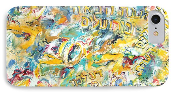 IPhone Case featuring the painting Next Year In Jerusalem by Esther Newman-Cohen