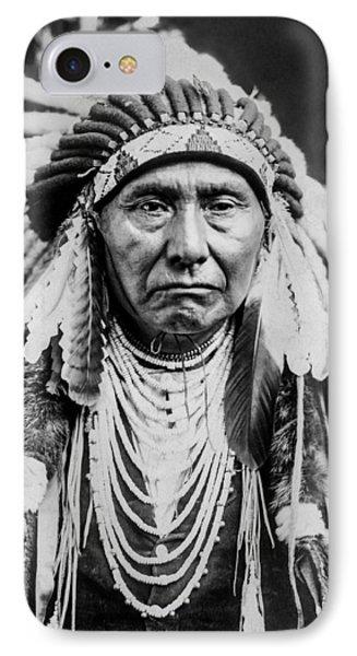 Nez Perce Indian Man Circa 1903 IPhone Case by Aged Pixel