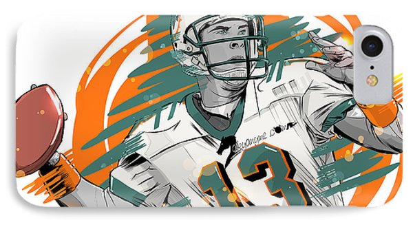 Nfl Legends Dan Marino Miami Dolphins IPhone Case by Akyanyme