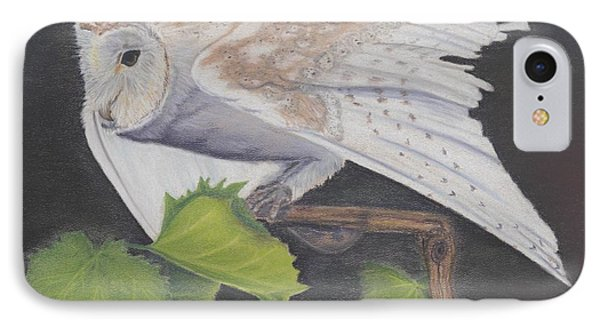 IPhone Case featuring the painting Nght Owl by Laurianna Taylor